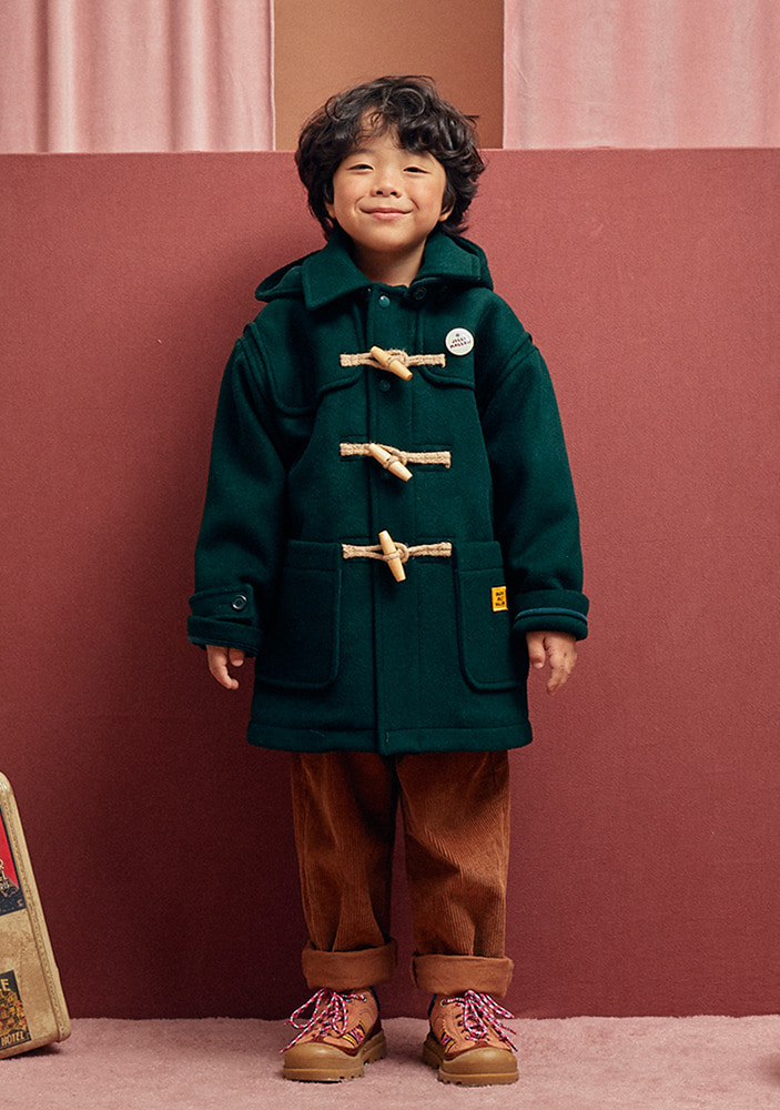 ★OVERSIZED DUFFLE COAT_Hunter Green