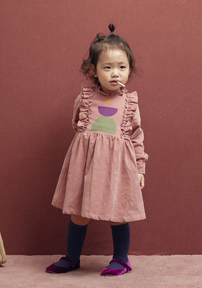 CORDUROY DRESS_Baby_Pink