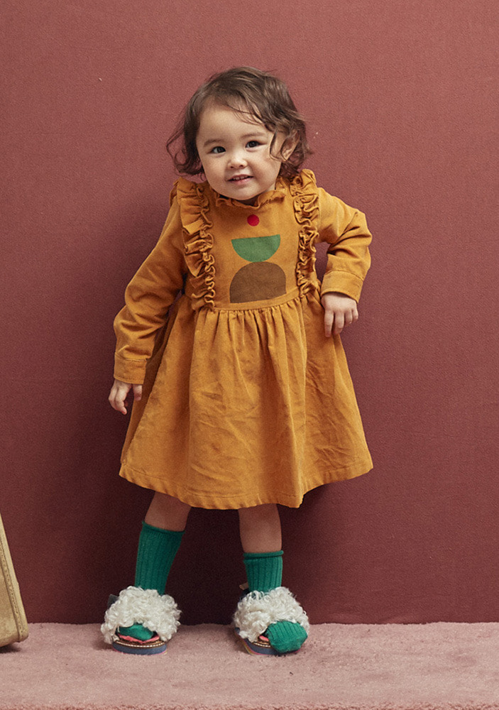 CORDUROY DRESS_Baby_Mustard