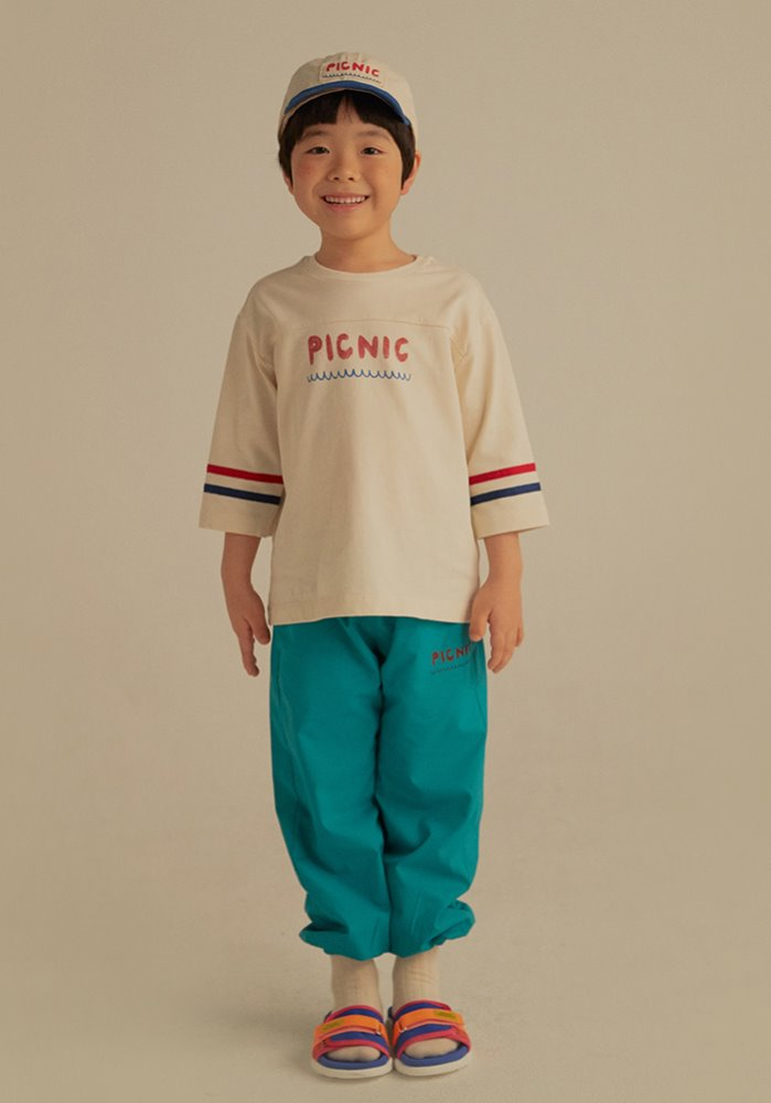 PICNIC 3/4 SLEEVE T-SHIRT