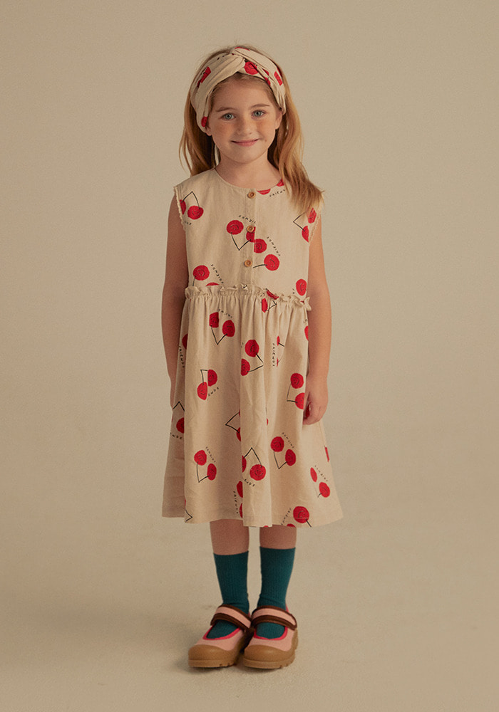 CHERRY FRIENDS DRESS_Kids#2