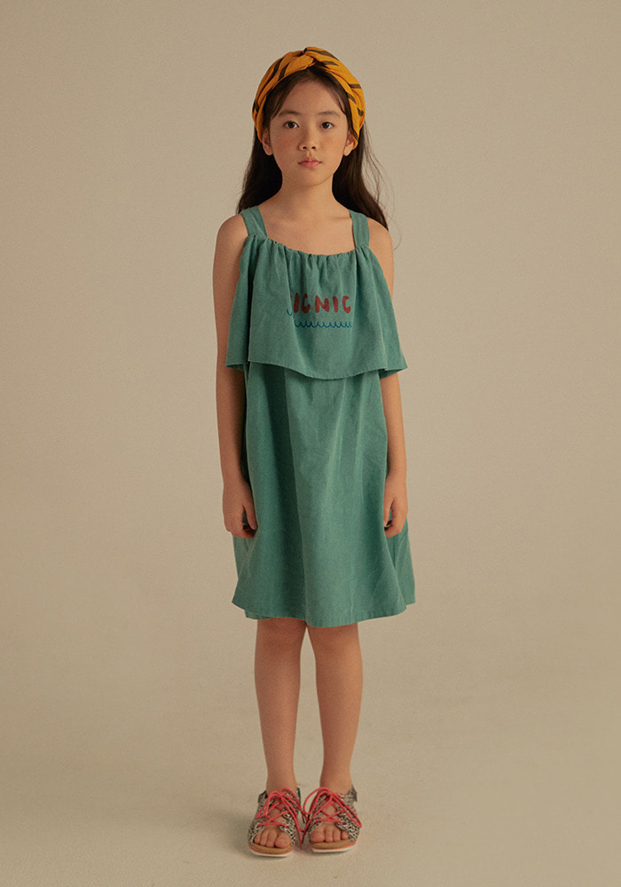 PICNIC SUMMER DRESS_Kids_Green