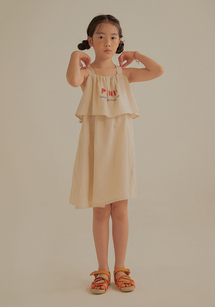 PICNIC SUMMER DRESS_Kids_Beige