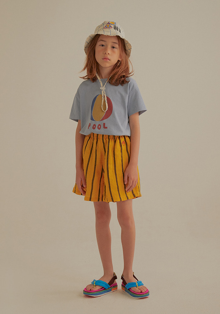 BEACH BALL SHORT SLEEVE T-SHIRT_Blue_Kids