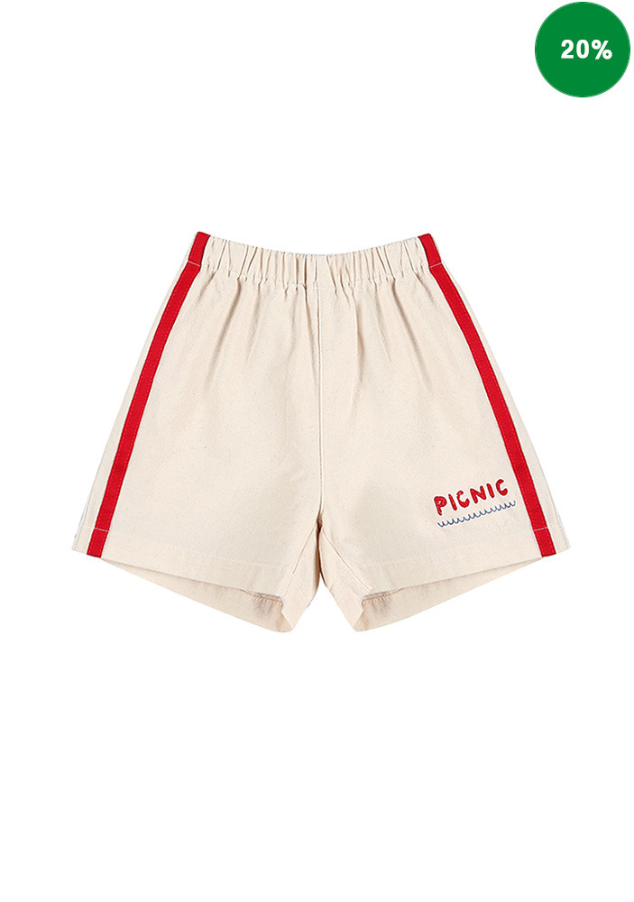 PICNIC COTTON TRACK SHORTS_Baby