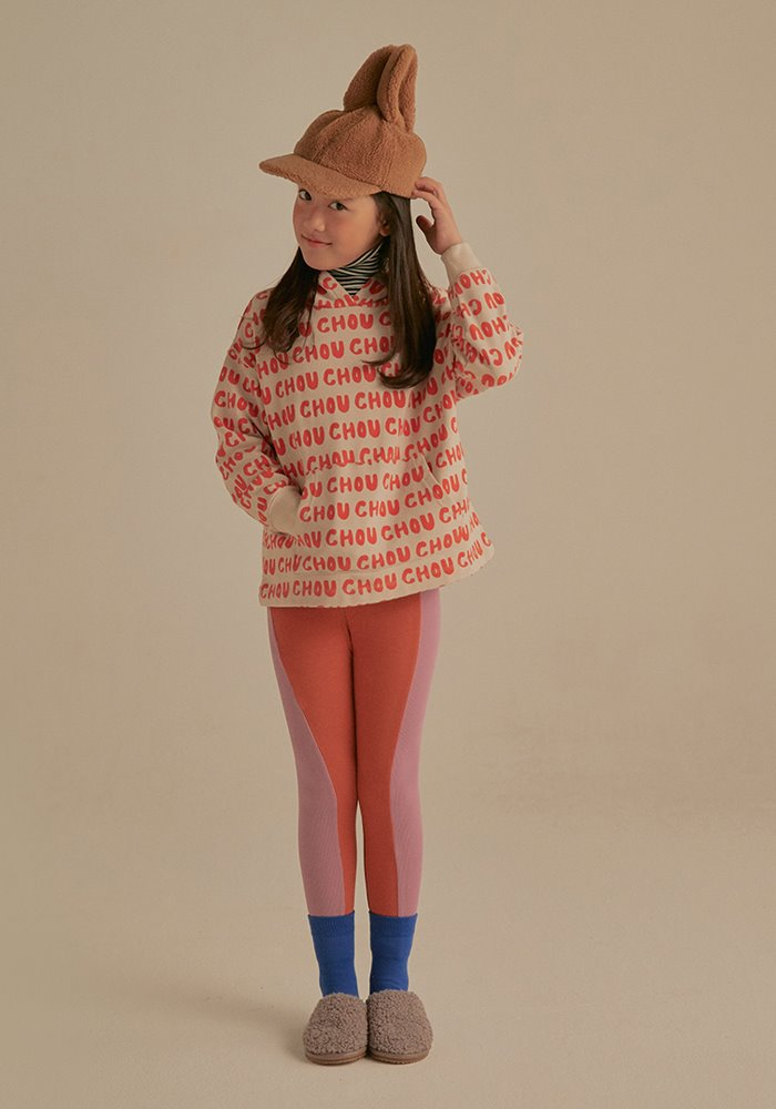 JELLYMALLOW TWO TONE LEGGINGS_Brick & Purple_Kids