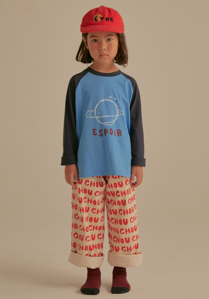 RAGLAN SLEEVE T-SHIRT_Blue_Kids
