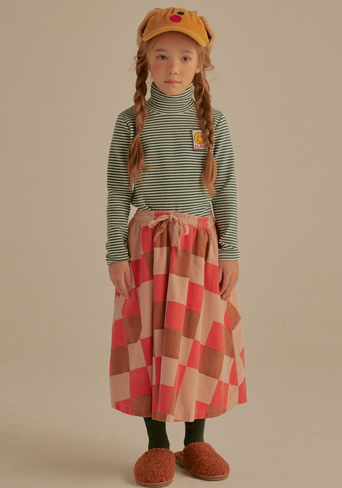 ARM WARMER TURTLENECK_Green&Ivory_Kids