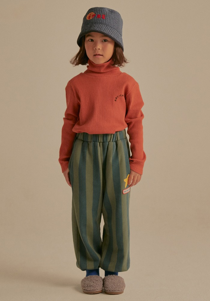 ARM WARMER TURTLENECK_Brown_Kids