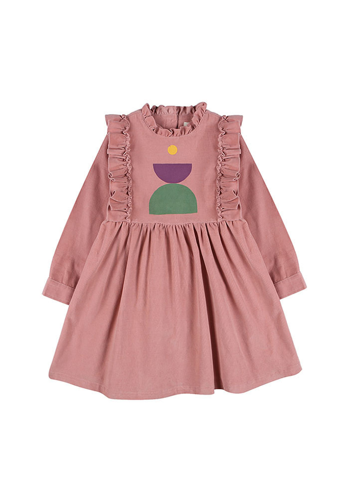 CORDUROY DRESS_Kids_Pink