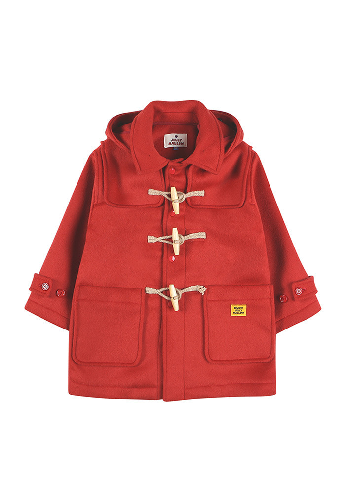 OVERSIZED DUFFLE COAT_Red