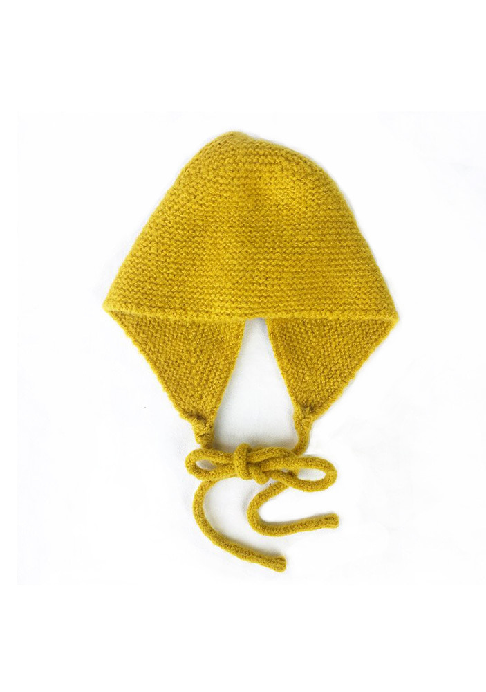 KNITTED HAT_Yellow