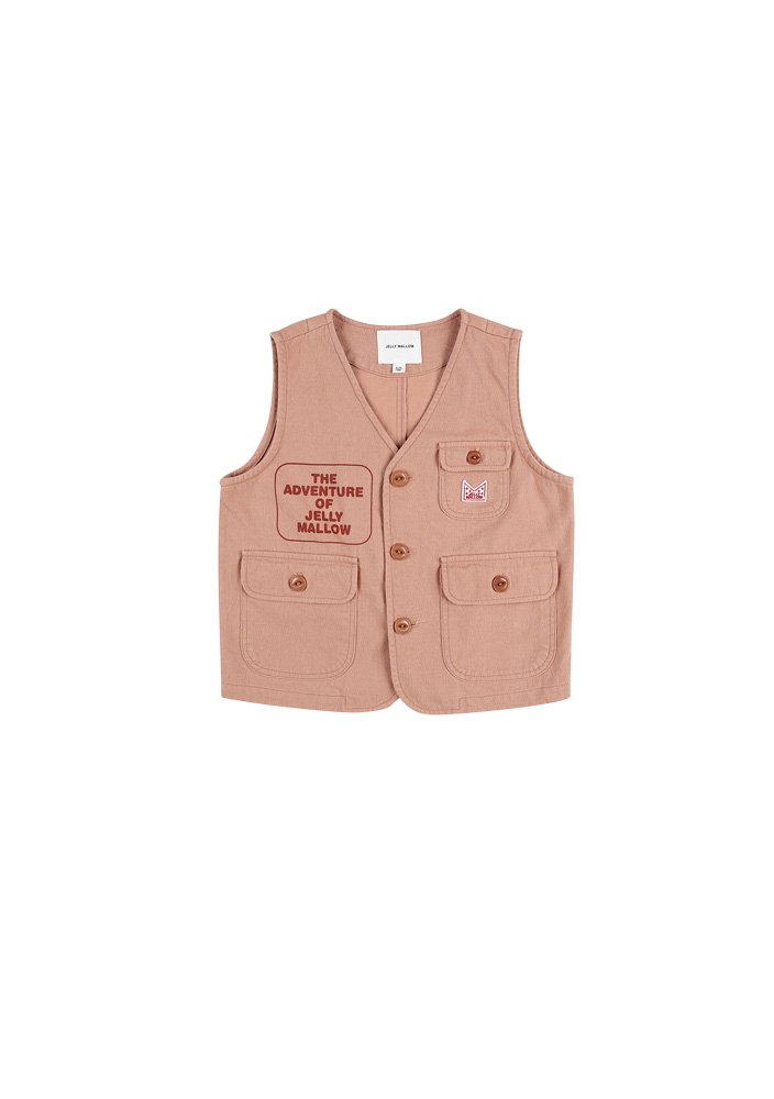 ★Adventure Safari Cotton Vest_Peach