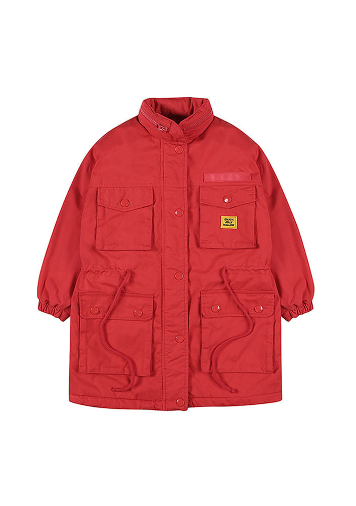 ★OVERSIZED  PARKA_Red