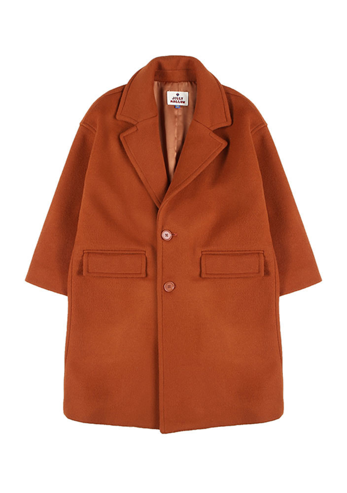 ★OVERSIZED SINGLE COAT_Persimmon