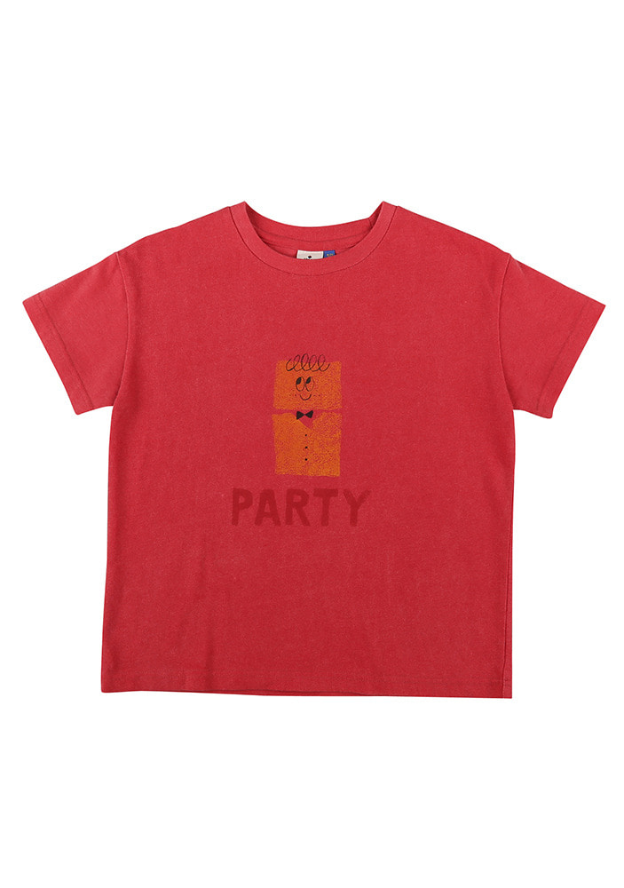 PARTY SHORT SLEEVE T-SHIRT_Cherry pink_Kids