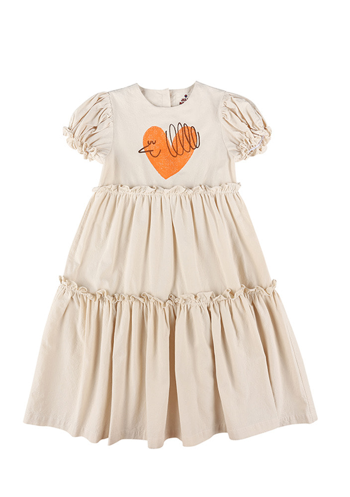 HEART BIRD COTTON LONGDRESS_#2