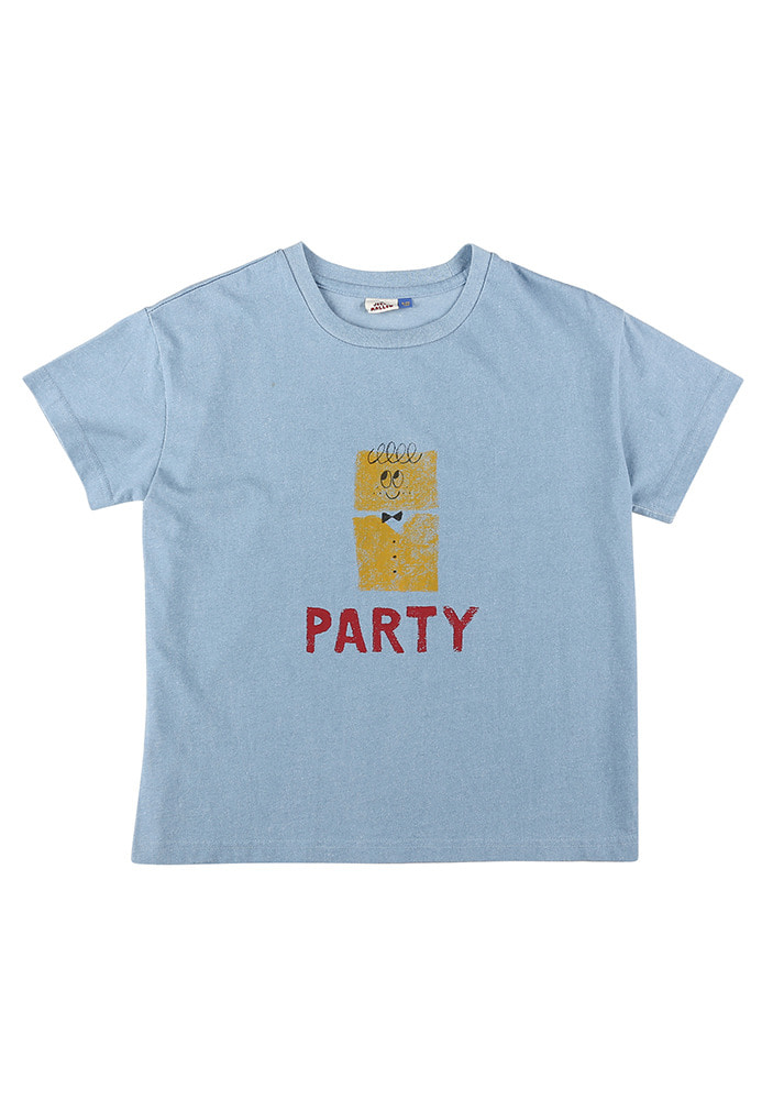 PARTY SHORT SLEEVE T-SHIRT_Blue_Kids