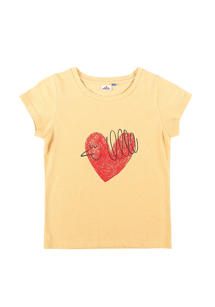 HEART BIRD SHORT SLEEVE T-SHIRT_Kids