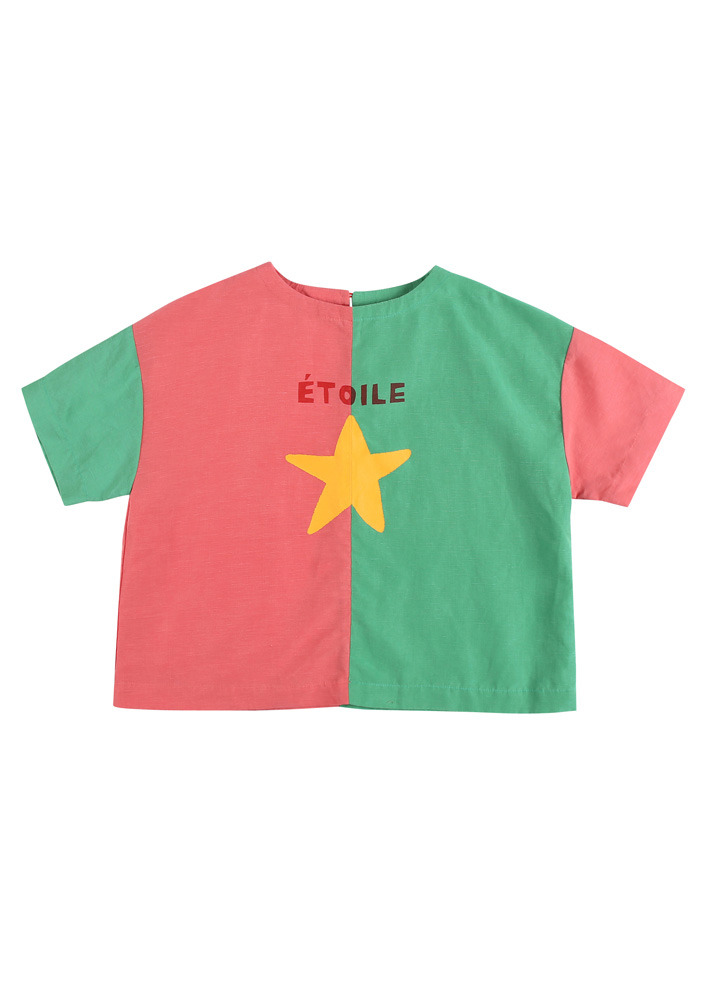 TWO TONE BLOUSE_Pink&Green_Kids#2