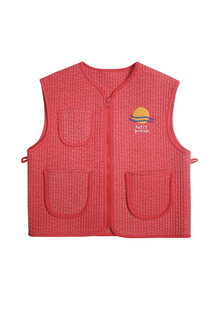 PETIT JELLY QUILT VEST_Red_Baby