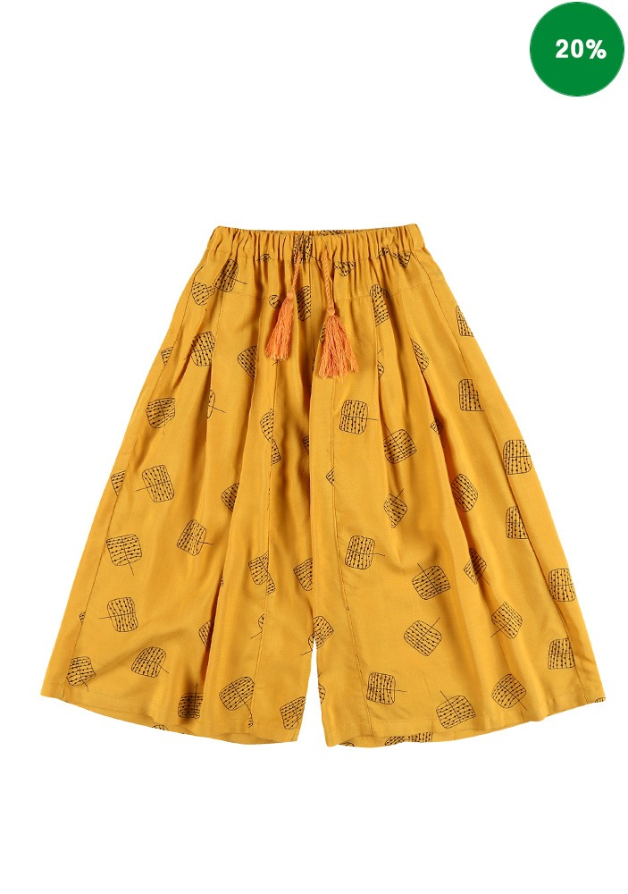 FLARE WIDE PANTS_Yellow_Baby