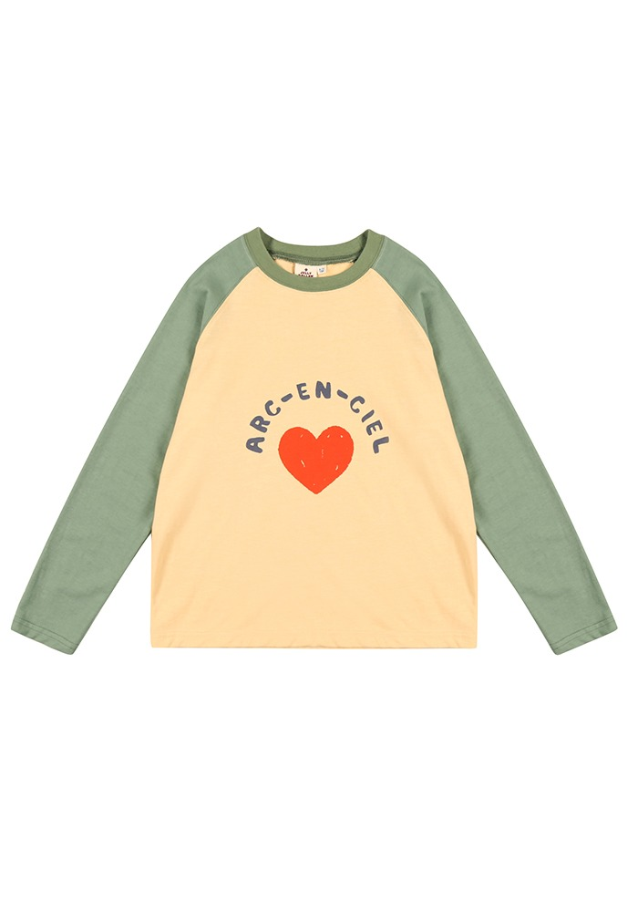 RAGLAN SLEEVE T-SHIRT_Green_Kids
